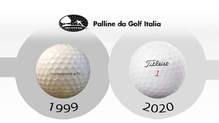 Come sono cambiate le palline negli ultimi 20 anni? Mettiamo a confronto una Titleist Professional 90 del 1999 contro una Titleist Pro V1 del 1999